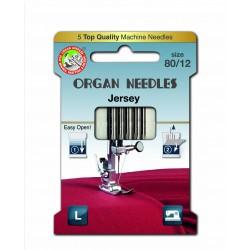 Machine Needles ORGAN JERSEY 130/705H - 80 - 5pcs/card