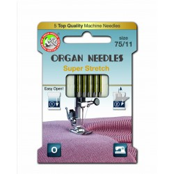Machine Needles ORGAN SUPER STRETCH 130/705H - 75 - 5pcs/card