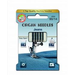 Machine Needles ORGAN JEANS 130 / 705H - 90 - 5pcs/card