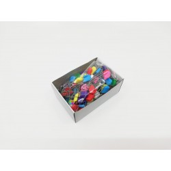 Children Safety Pins Plastic/Metal wire 54x1,00mm Assorted colours - 100pcs/box