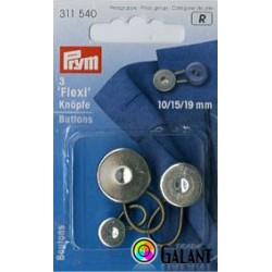 Flexi buttons with loop MIX (Prym) - 3pcs/card