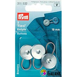 Flexi buttons with loop 19 mm (Prym) - 3pcs/card