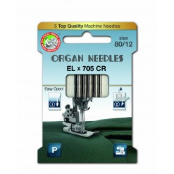 Machine Needles ORGAN EL x 705 Chromium - 80 - 5pcs/card