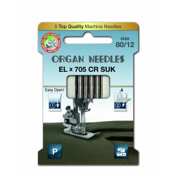 Machine Needles ORGAN EL x 705 Chromium SUK - 80 - 5pcs/card