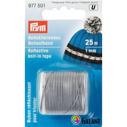 Reflecting knit-in tape 1 mm/25m (Prym) - 1pc/card
