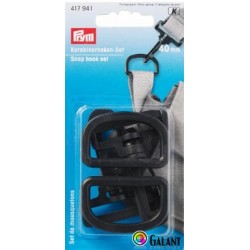 Plastic snap hook - eye 40 mm (Prym) - 2sets/card