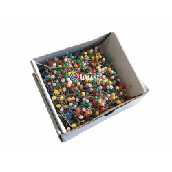 Plastic Head Pins 31x0,60mm c. assort - 1000pcs/box