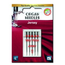 Machine Needles ORGAN JERSEY 130/705H - 90 - 5pcs/plastic box/card