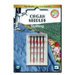 Machine Needles ORGAN QUILTING 130/705 H-QU - Assort - 5pcs/plastic box/card (75:3, 90:2pcs)