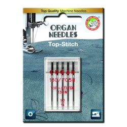 Machine Needles ORGAN TOP STITCH 130/705H - 90 - 5pcs/plastic box/card