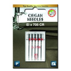 Machine Needles ORGAN EL x 705 Chromium - 80 - 5pcs/plastic box/card