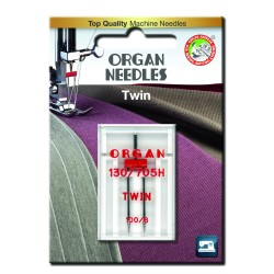 Machine Needles ORGAN TWIN 130/705 H - 100 (6,0) - 1pcs/plastic box