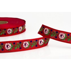 Embroidered ribbon (161 408 187), 18mm, 25m/bunch