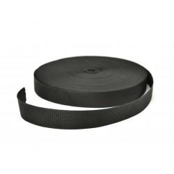 Woven webbing (8 357 254 10) - black - 10,0mm - 25m/spool