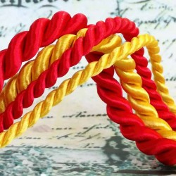 Satin twisted cord (8 452 144 65) 6,5 mm - 25m/bunch