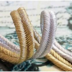 Metallic soutache braid (8 811 129 06) 6,0mm - 25m/spool
