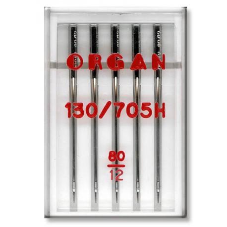 Machine Needles ORGAN UNIVERSAL 130/705 H - 80 - 5pcs/plastic box