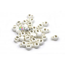 Ball Cord Lock - Big Bead - white - 1pcs