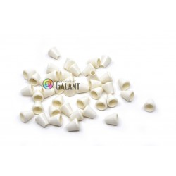 Cord Lock End Caps - Middle Bell - white - 1pcs
