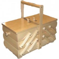 Wooden Folding Sewing Box (small) - c. light - 1pcs