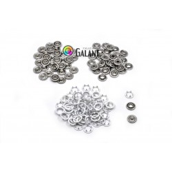 Press Buttons Baby - size 2 (9,5mm) 2 x white ring - nickel free - 100pcs/polybag