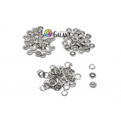 Press Buttons Baby - size 2 (9,5mm) nickel free - 100pcs/polybag