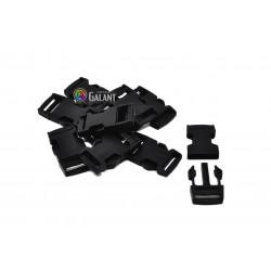 Side Release Buckles with Strap Adjuster 20mm - c. black - 1pcs