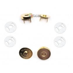 Magnetic Snap Closures 14mm - polished brass - 100set/polybag