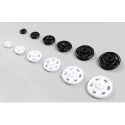 Plastic Snap Fasteners 10mm White - 1000pcs/box