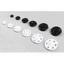 Plastic Snap Fasteners 15mm White - 1000pcs/box