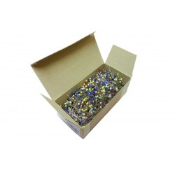 Glass Head Pins 30x0,60mm assort colours - 100g/box