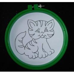 Vyšívání pro děti - Rámeček 15cm - 8(Kočička) - 1ks
