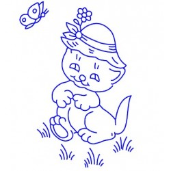 Embroidery for Children - Kanava 25x25cm - K10 - 1pcs