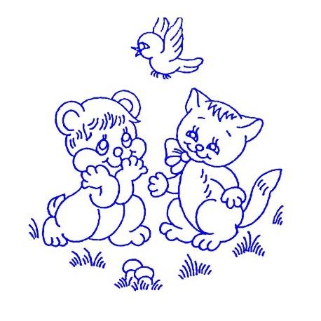 Embroidery for Children - Kanava 25x25cm - K16 - 1pcs