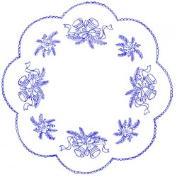 Pre-printed Cotton Tablecloth 50x50cm - O125 - 1pcs