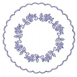 Pre-printed Cotton Tablecloth 50x50cm - O27 - 1pcs