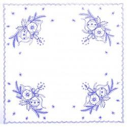Pre-printed Cotton Tablecloth 70x70cm - CHZ10 - 1pcs