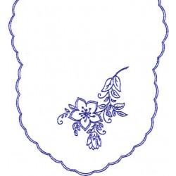 Pre-printed Cotton Tablecloth 90x50cm - K122 - 1pcs