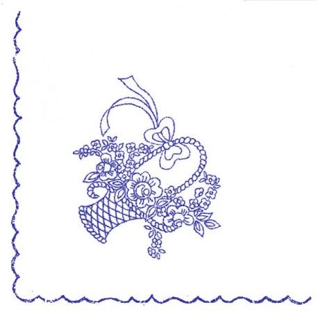 Pre-printed Cotton Tablecloth 110x110cm - A7 - 1pcs