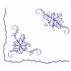 Pre-printed Cotton Tablecloth 140x120cm - M19 - 1pcs