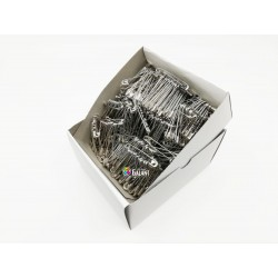 Safety Pins PREMIUM - 38x0,90mm - nickel plated - 864pcs/box (11/12 - in bunches - 72buches/box)