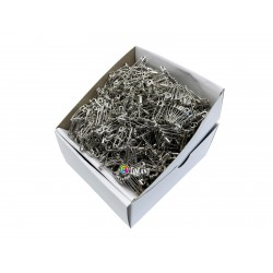 Safety Pins PREMIUM - 20x0,65mm - nickel plated - 1728pcs/box (12pcs in bunch - 144buches/box)