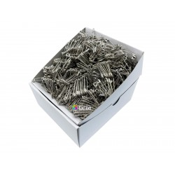 Safety Pins PREMIUM - 23x0,65mm - nickel plated - 1728pcs/box (11/12 - in bunches - 144buches/box)