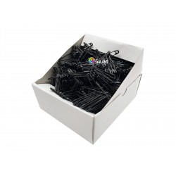 Safety Pins PREMIUM - 32x0,80mm - black - 864pcs/box (11/12 - in bunches - 72buches/box)