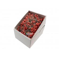 Čalounické špendlíky 60x1,20mm - červená - 1000ks/krabička