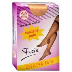 Dámské podkolenky - FERIN - vel.25 - b.1004 - 1pár/krabička