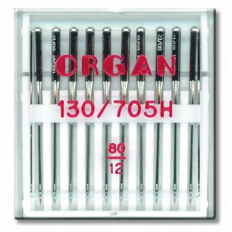 Machine Needles ORGAN UNIVERSAL 130/705 H - 80 - 10pcs/plastic box