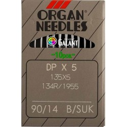 Industrial Machine Needles ORGAN DPx5 SUK - 90/14 - 10pcs/card