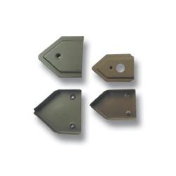 Webbing End - 4806200 (H719) - khaki lacquer - 500pcs/box