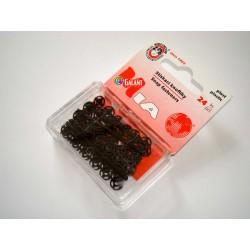 Plastic Snap Fasteners 7mm black - 24pcs/card